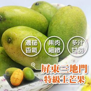 屏東三地門土芒果12~15粒/3台斤/盒